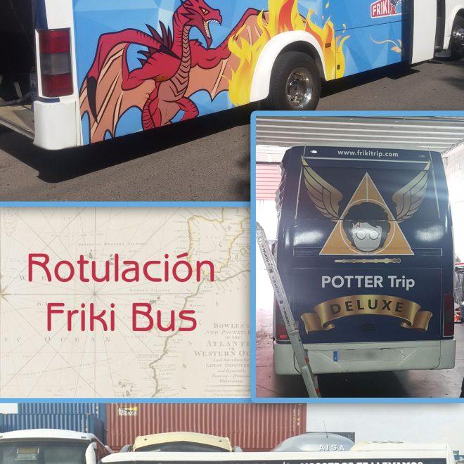 Rotulacion Friki Bus