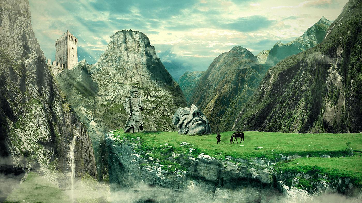 Matte Painting Landscape